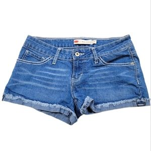 Levi's Low Rise Jean Shorty Shorts Size 17 Juniors